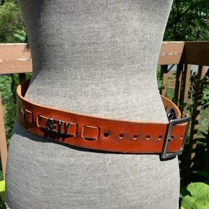 "Accessories - ""Sexy Mama"" Leather Belt Size 28"